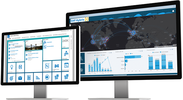 SAP Martketing Cloud Hybris Example - SAP Digital Boardroom   Buy licences and services from SAP UK Gold Partners Influential Software
